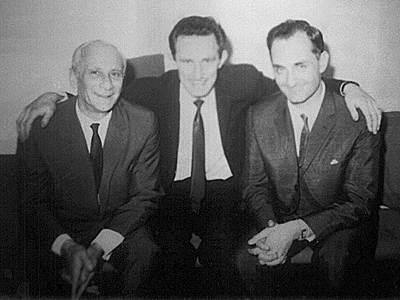 In Prague with Karel Ancerl and Martin Turnovsky, 1966